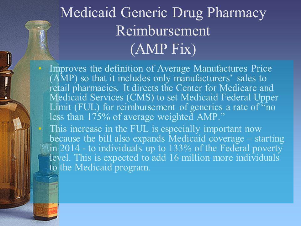 Medicaid Generic Drug Pharmacy Reimbursement (AMP Fix)
