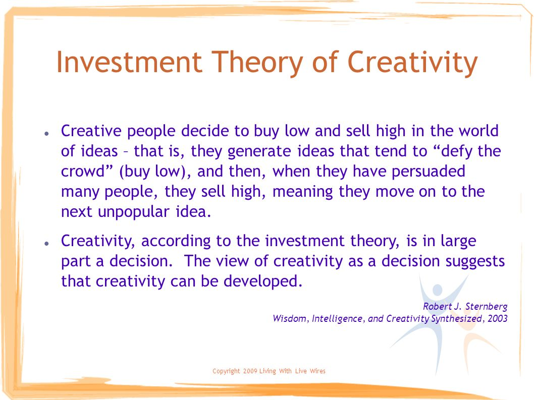 Investment Theory of Creativity