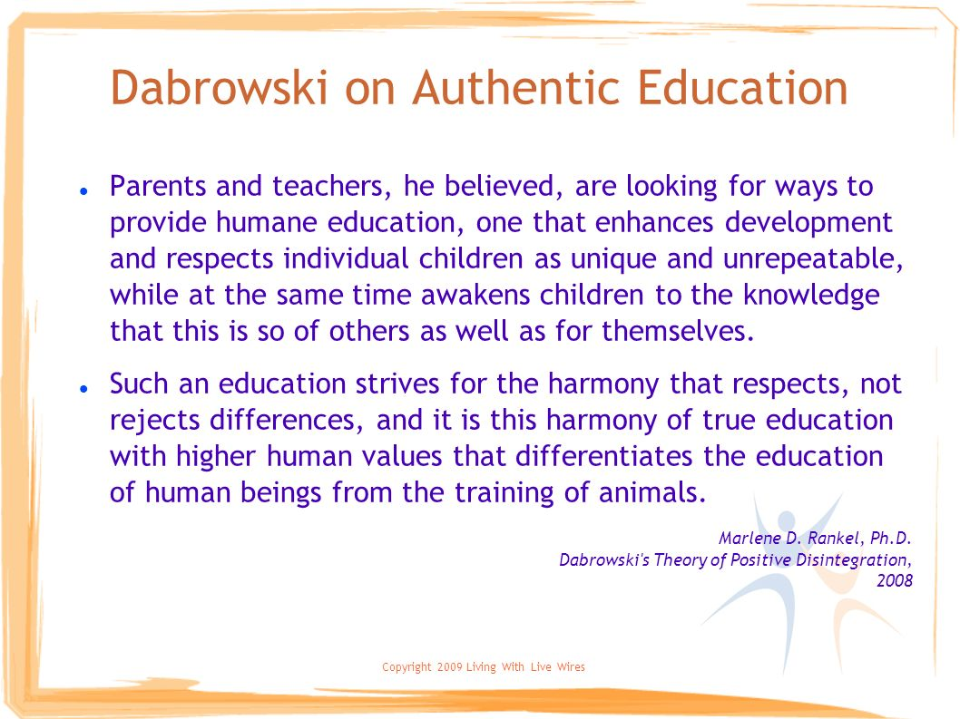 Dabrowski on Authentic Education