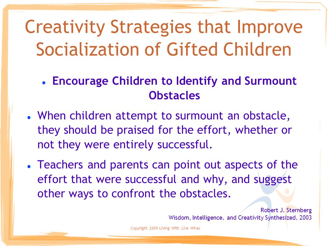 Creativity Strategies that Improve Socialization of Gifted Children