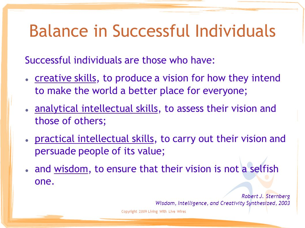Balance in Successful Individuals