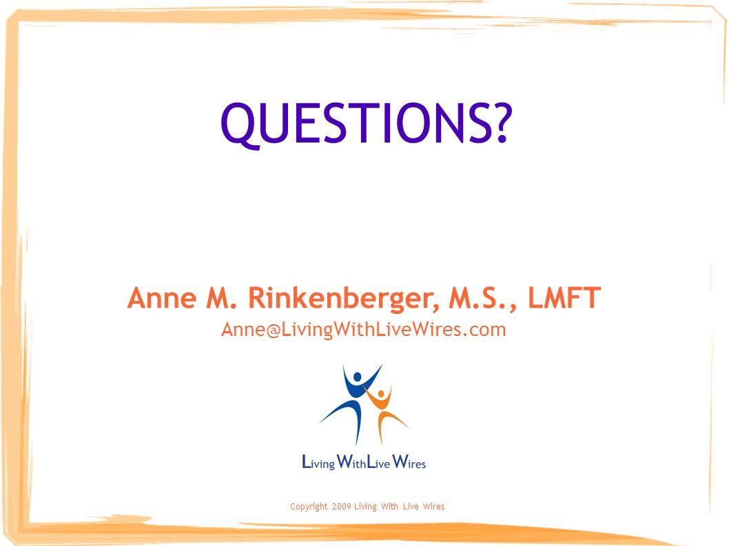 Anne M. Rinkenberger, M.S., LMFT