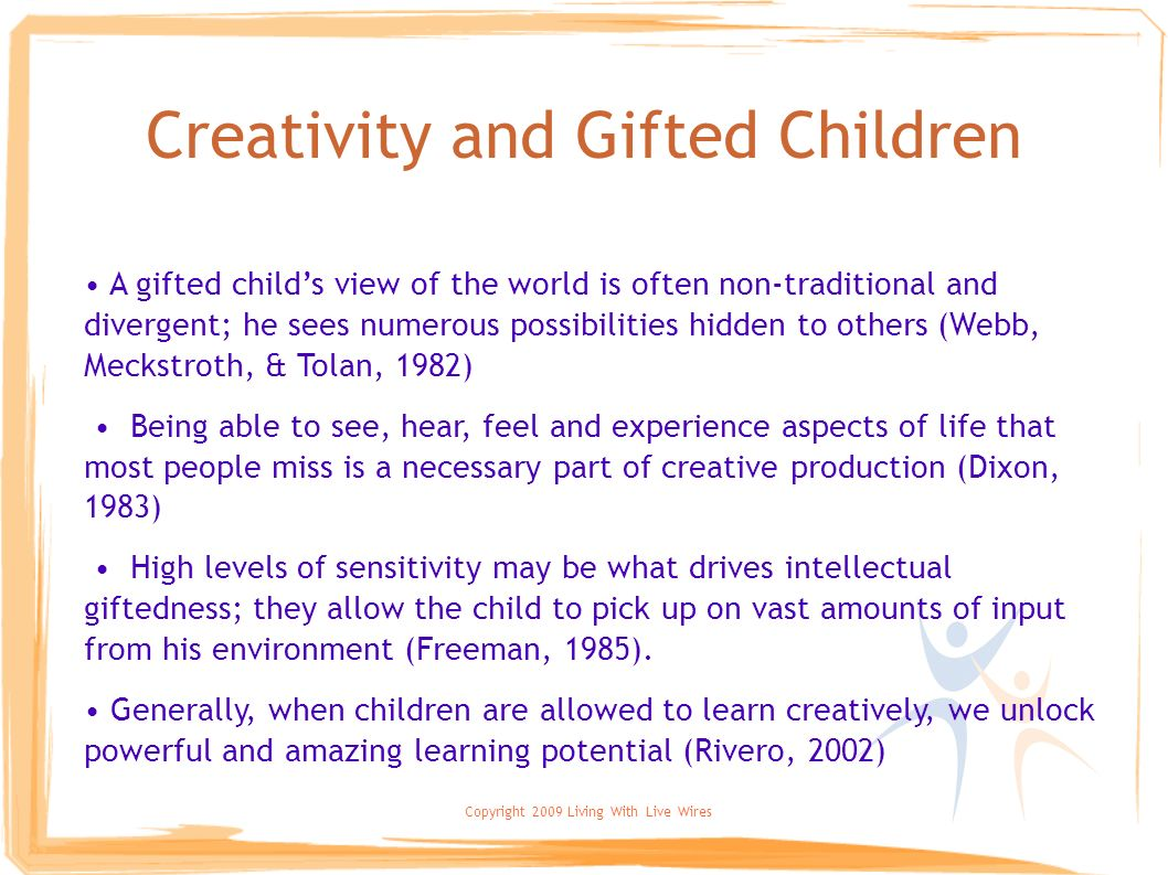Creativity and Gifted Children
