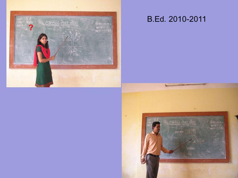 B.Ed. 2010-2011