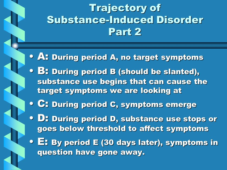 Trajectory of Substance-Induced Disorder Part 2