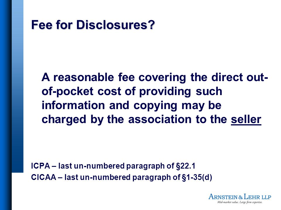 Fee for Disclosures