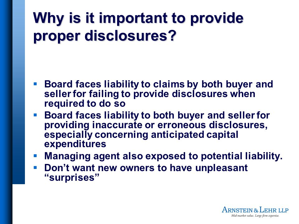 Why is it important to provide proper disclosures