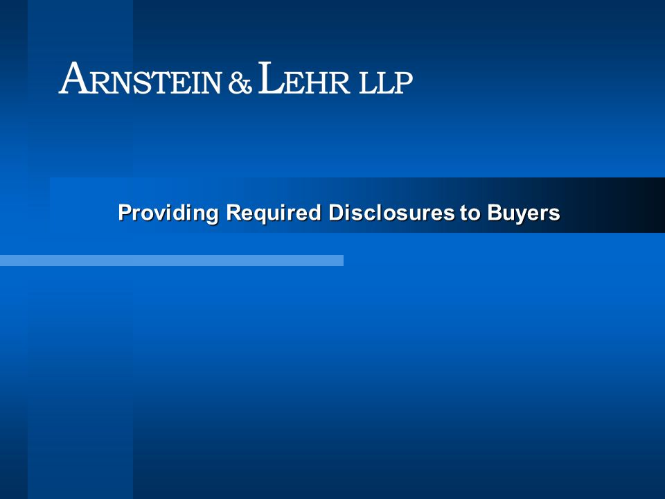 Providing Required Disclosures to Buyers