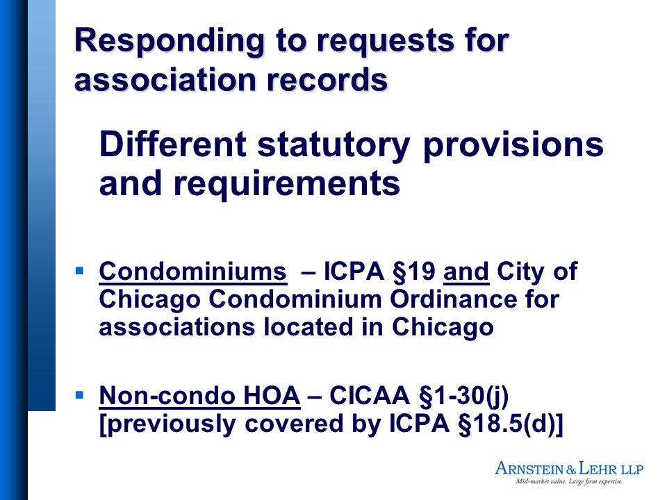 Responding to requests for association records
