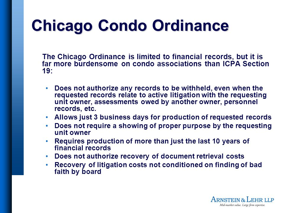 Chicago Condo Ordinance