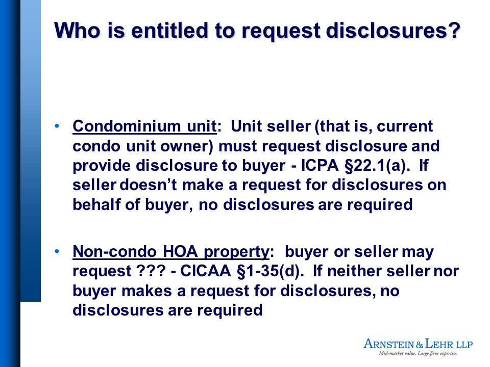 Who is entitled to request disclosures