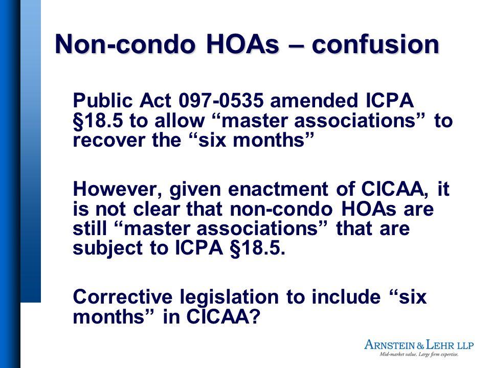 Non-condo HOAs – confusion