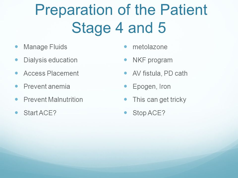 Preparation of the Patient Stage 4 and 5