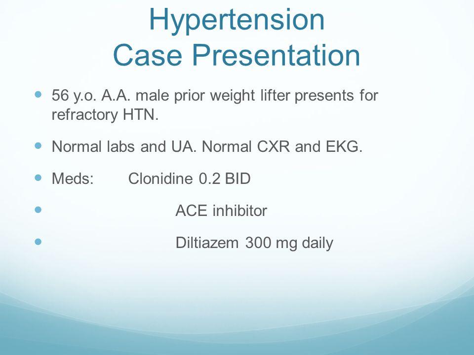 Hypertension Case Presentation