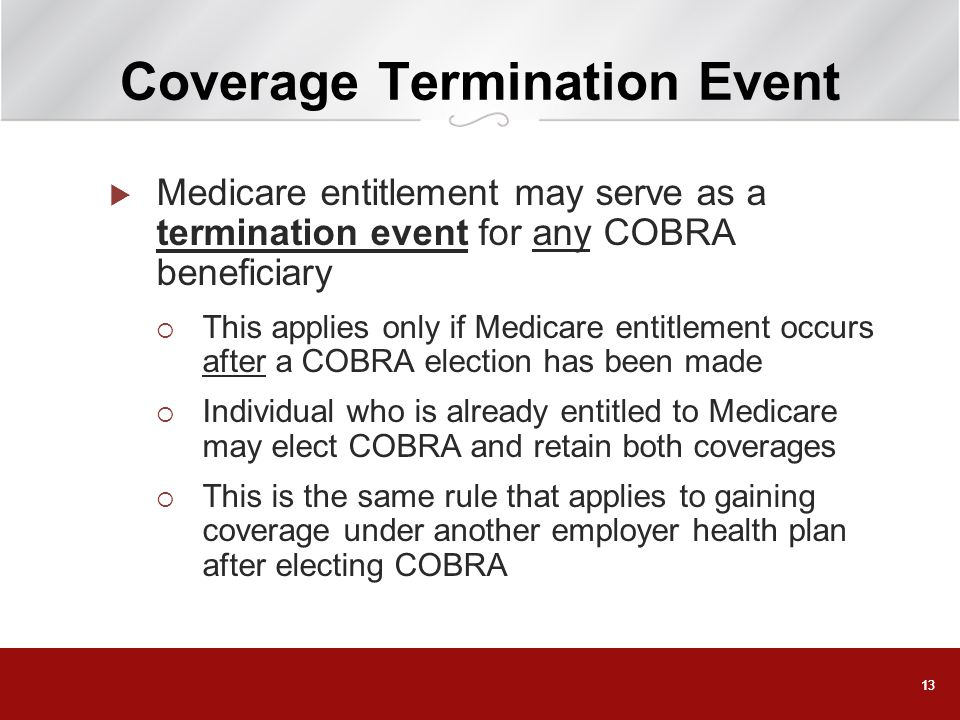 Coverage Termination Event