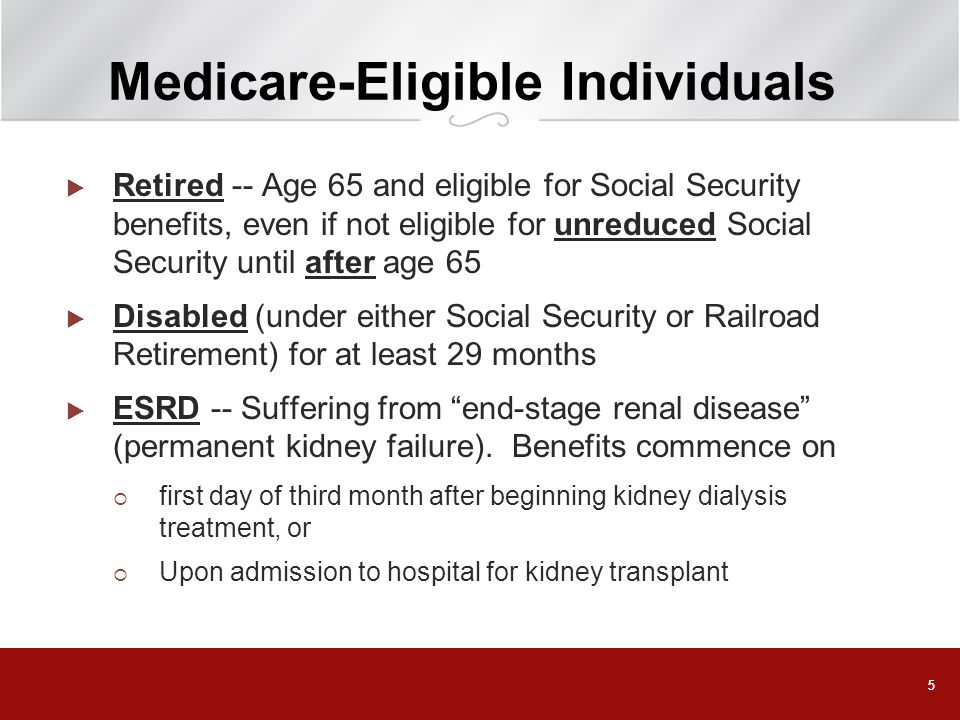 Medicare-Eligible Individuals