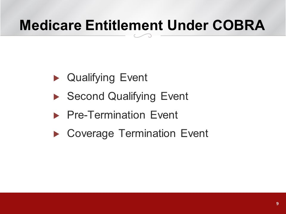 Medicare Entitlement Under COBRA