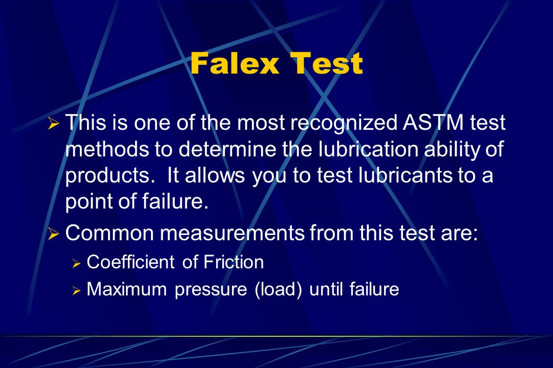 Falex Test