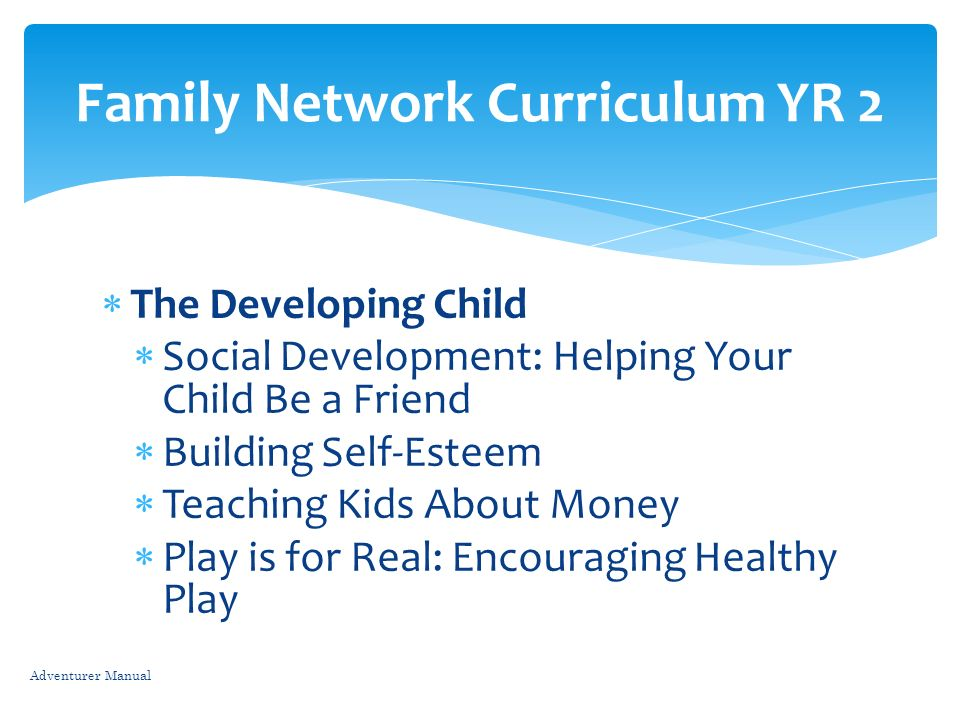 Family Network Curriculum YR 2