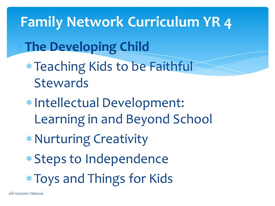 Family Network Curriculum YR 4