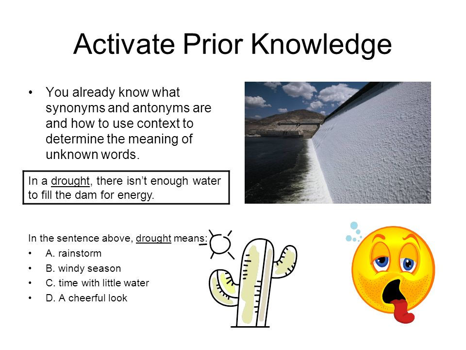 Activate Prior Knowledge