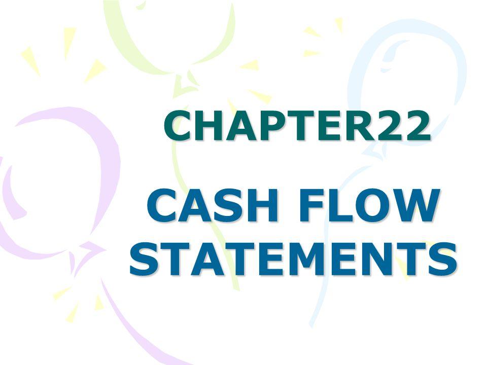 CHAPTER22 CASH FLOW STATEMENTS