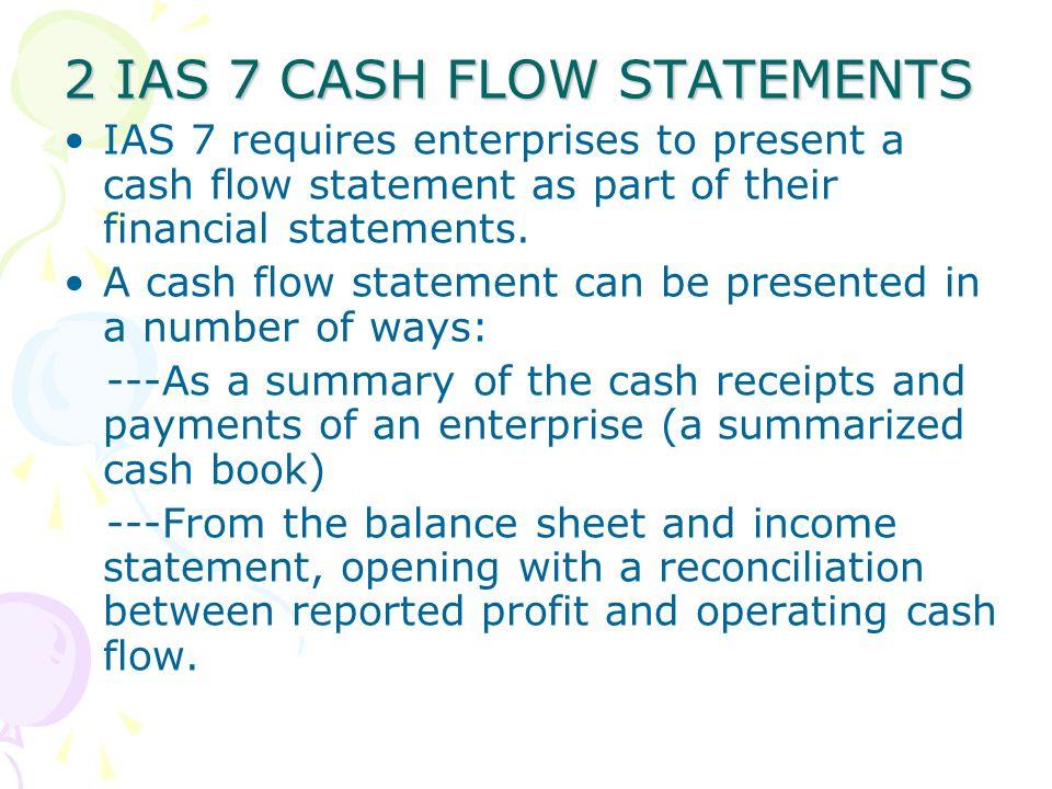 2 IAS 7 CASH FLOW STATEMENTS