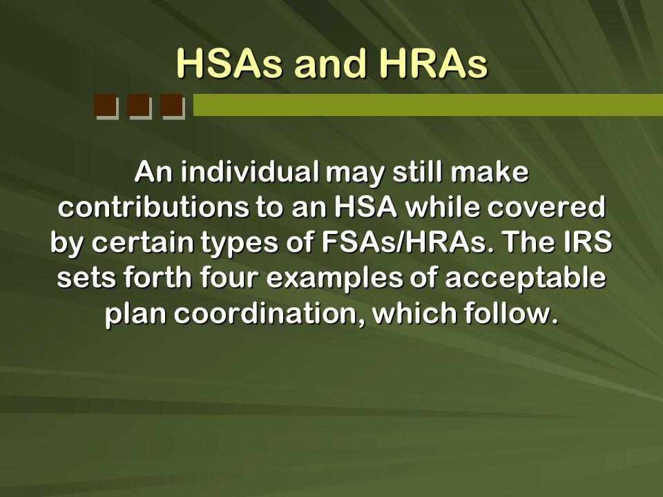HSAs and HRAs