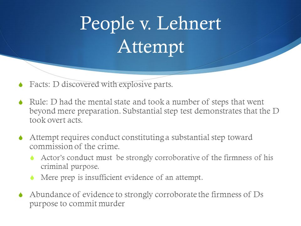 People v. Lehnert Attempt