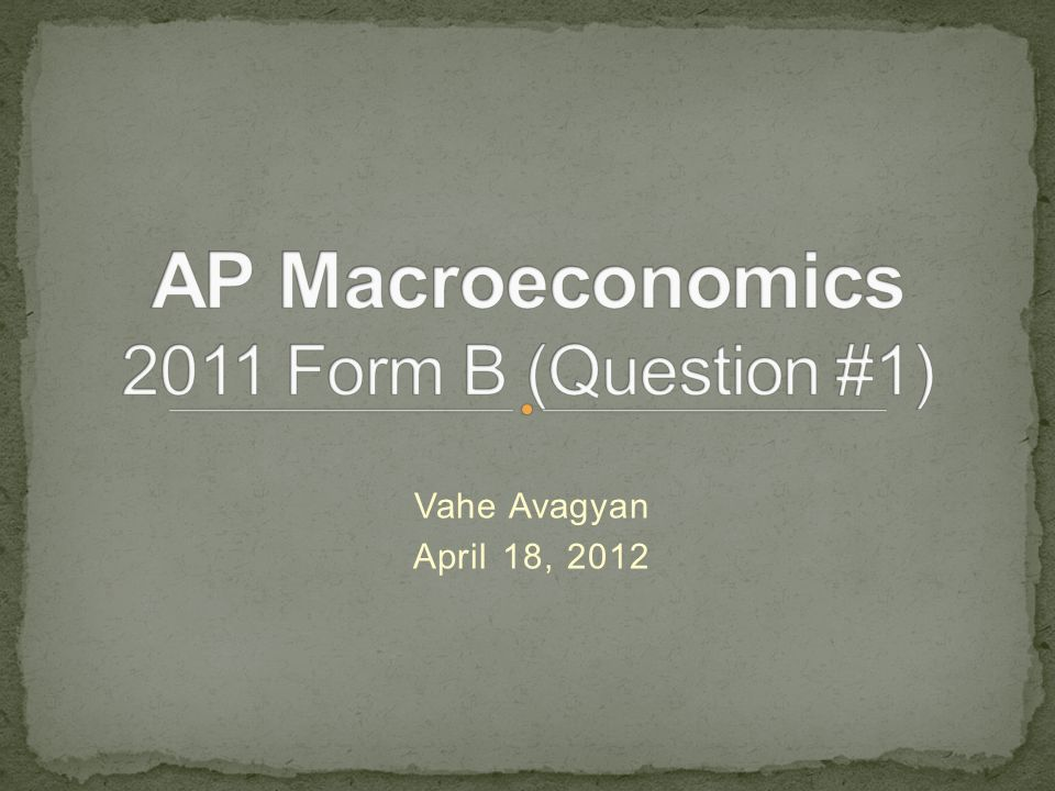 AP Macroeconomics 2011 Form B (Question #1)