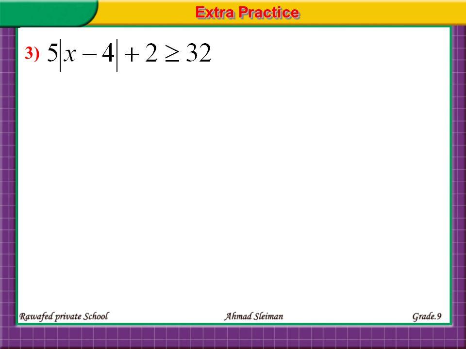 Extra Practice 3)