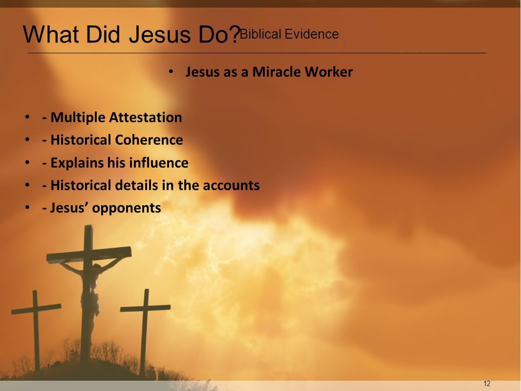 Jesus as a Miracle Worker