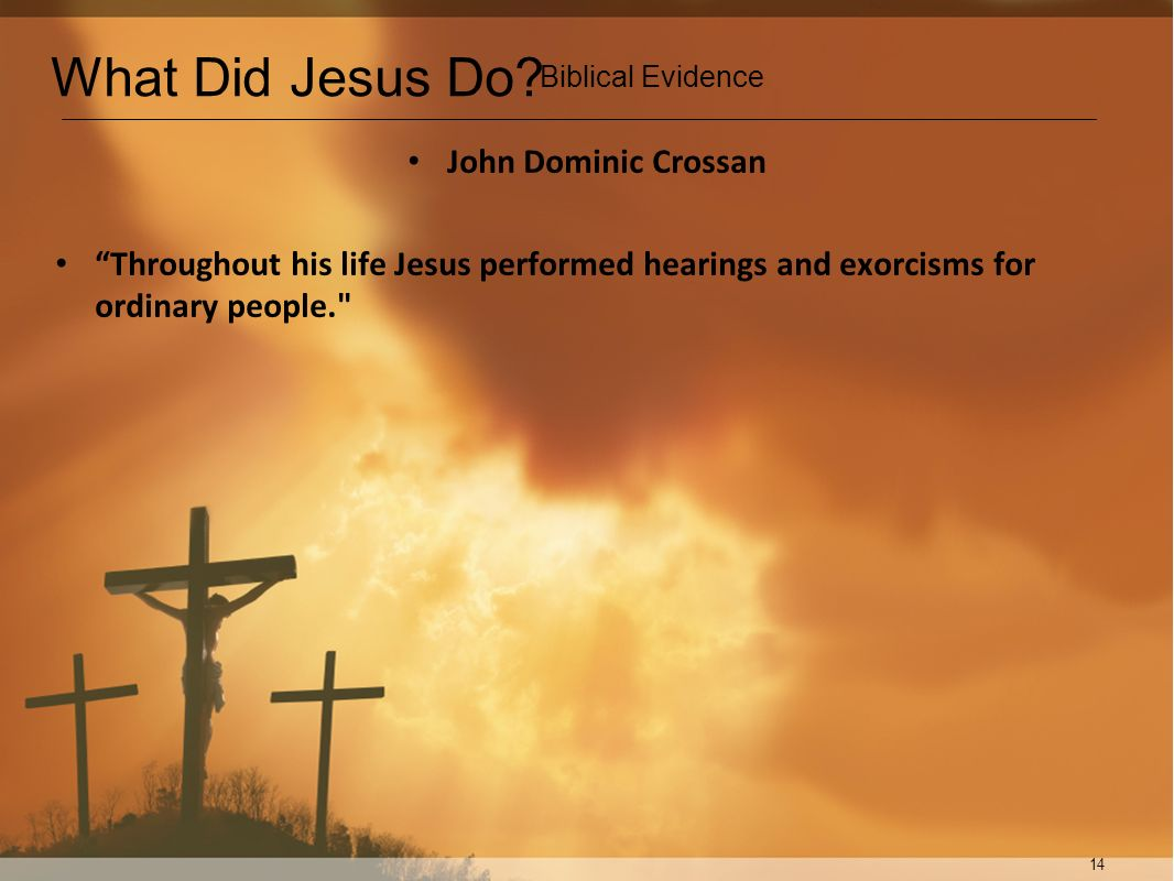 What Did Jesus Do John Dominic Crossan