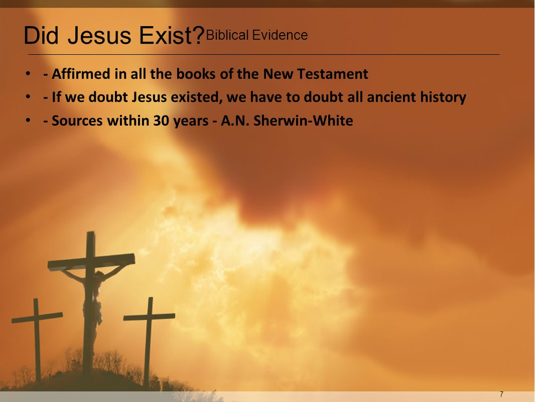 Did Jesus Exist - Affirmed in all the books of the New Testament