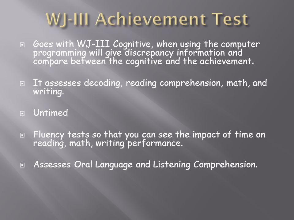 WJ-III Achievement Test