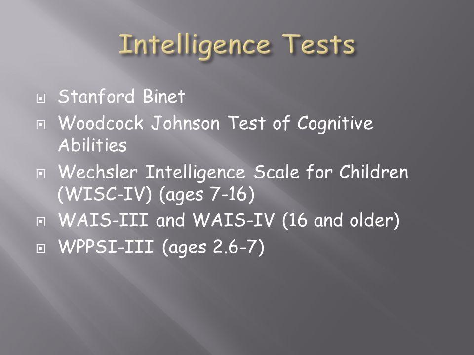 Intelligence Tests Stanford Binet