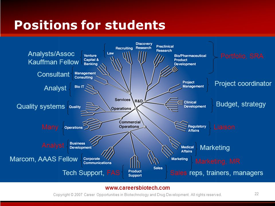 Positions for students