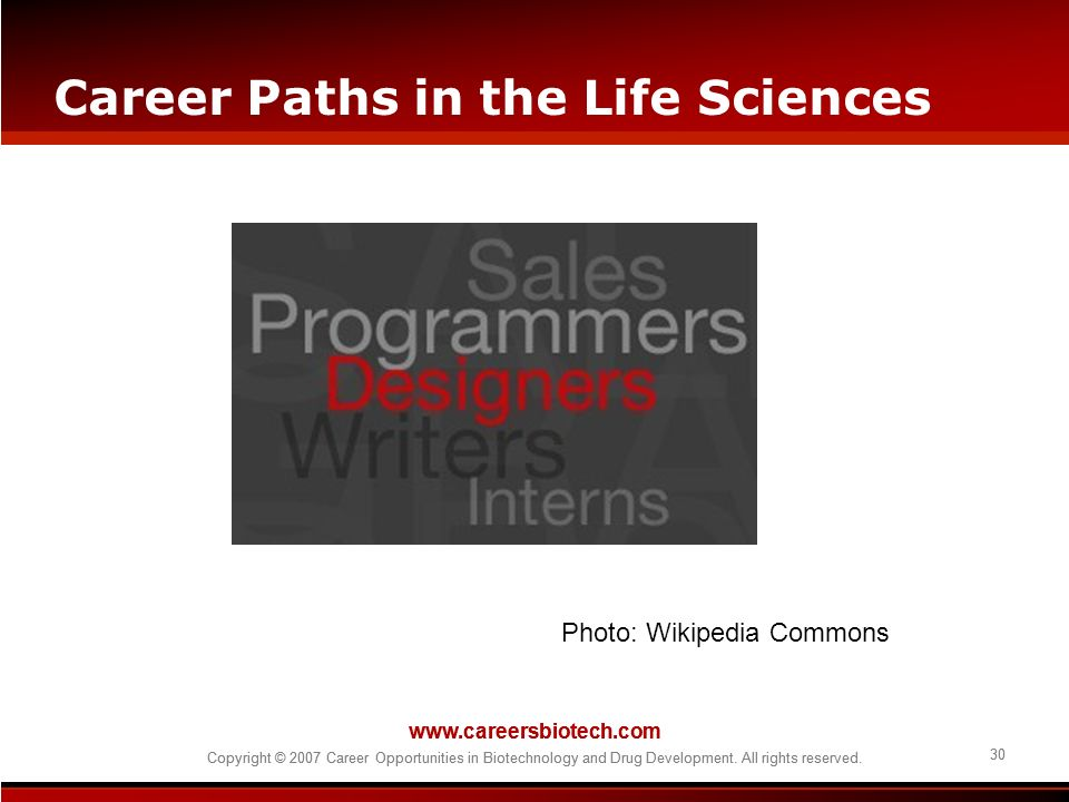 Career Paths in the Life Sciences