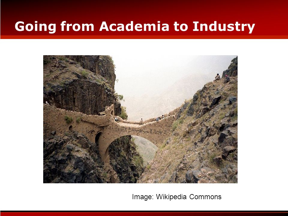 Going from Academia to Industry