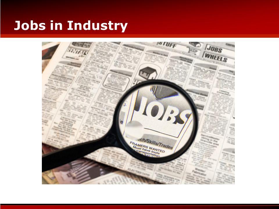 Jobs in Industry