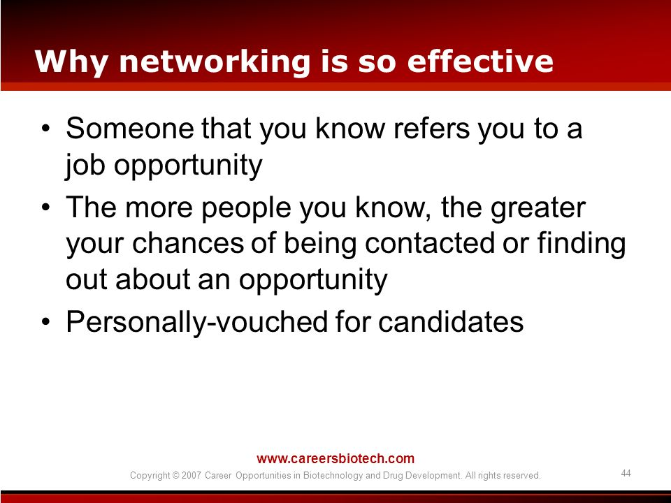 Why networking is so effective