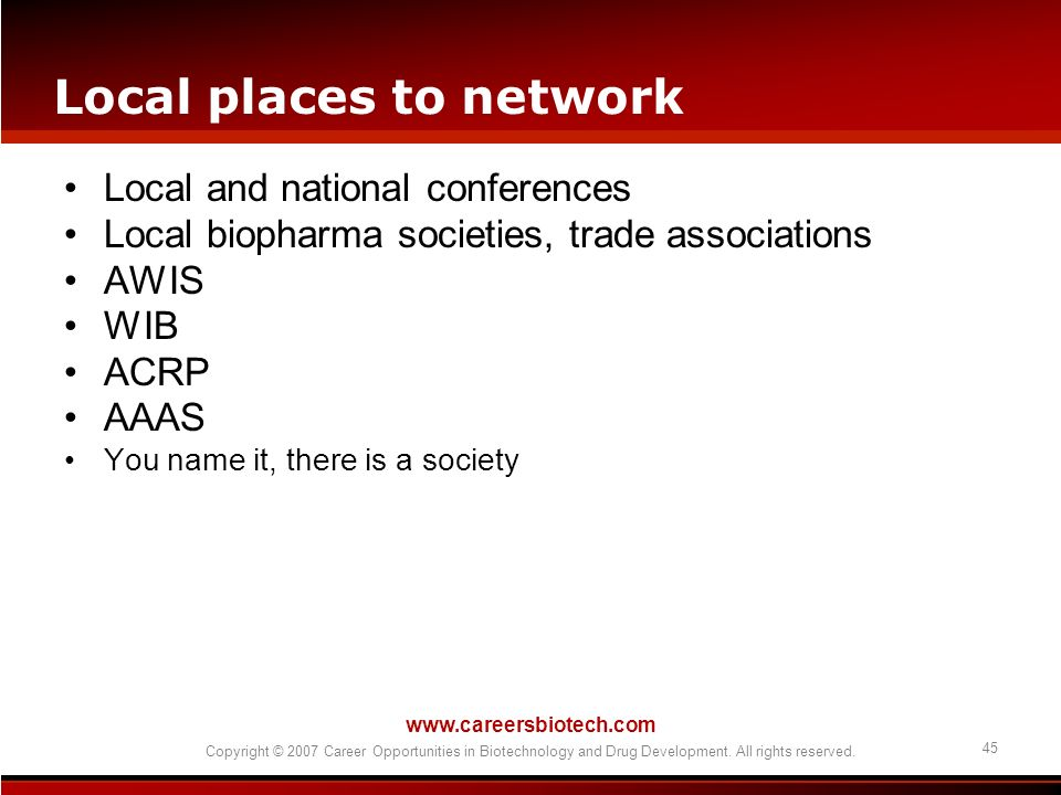 Local places to network