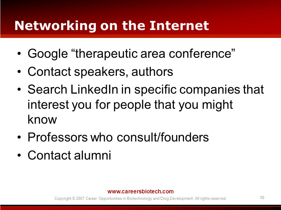 Networking on the Internet