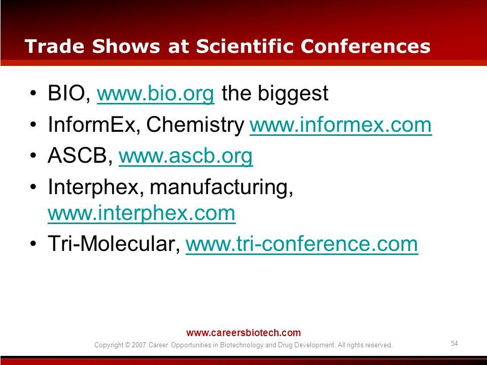 Trade Shows at Scientific Conferences
