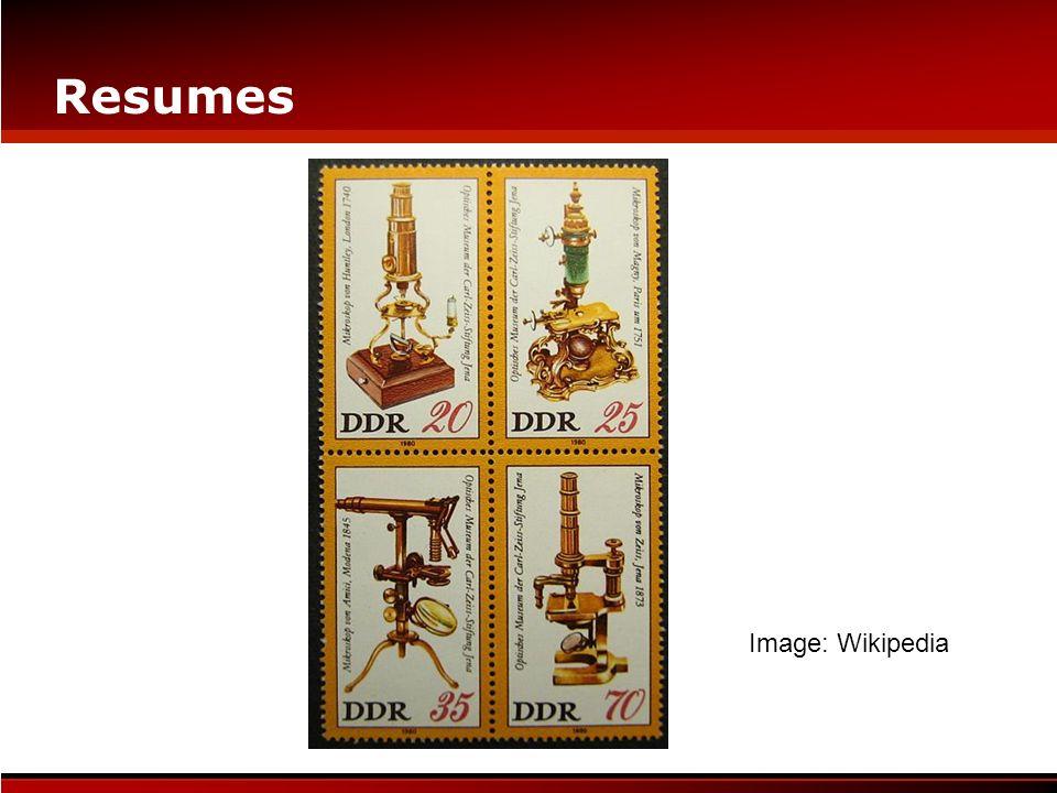 Resumes Image: Wikipedia