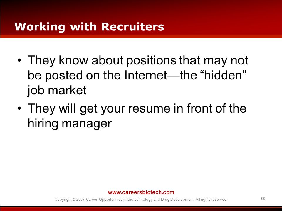 Working with Recruiters