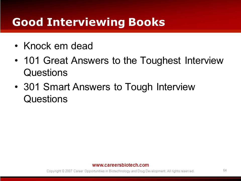 Good Interviewing Books