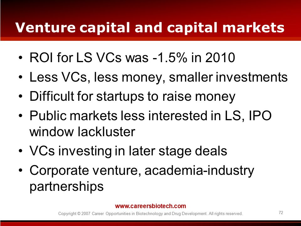 Venture capital and capital markets