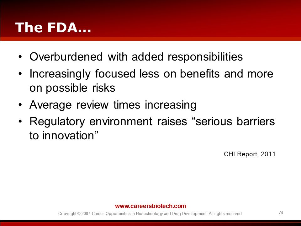 The FDA… Overburdened with added responsibilities