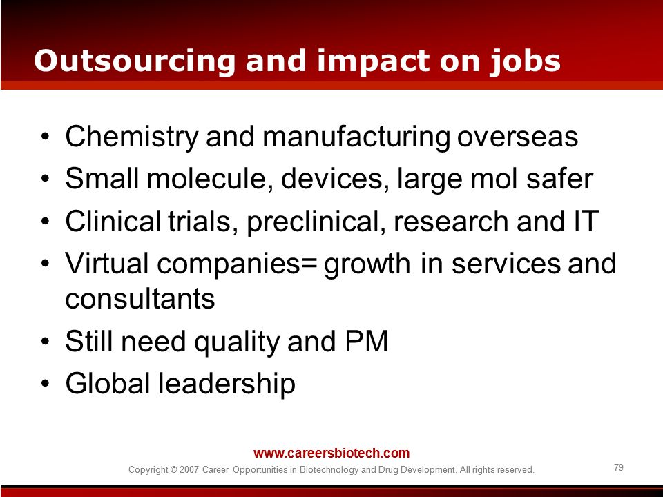 Outsourcing and impact on jobs